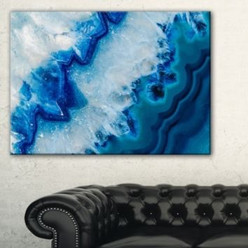 Geode Slice Macro - Abstract Digital Art Canvas Print - Free Shipping Today - Overstock.com - 18983029 - Mobile