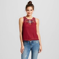 Women's Eyelet Crochet Tank - Xhilaration™(Juniors') : Target