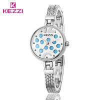2017 KEZZI brands Women's Wristwatches Fashion Formal Inlay Rhinestone Dial Quartz Movement Waterproof Steel Strap Ladies Watch