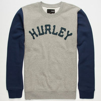 Hurley Pirate Crew Mens Sweatshirt Grey/Black  In Sizes