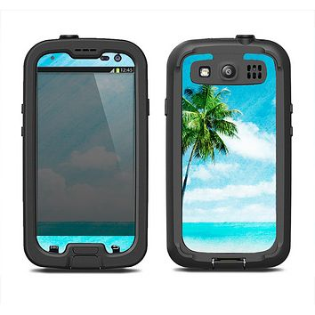 The Paradise Beach Palm Tree Samsung Galaxy S3 LifeProof Fre Case Skin Set
