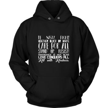 Fight The Power Hoodie - Inspiring Quote on Cotton Hoodie - Men and Women