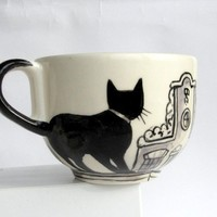 Amsterdam cats Big Handpainted Mug made to by houseofharriet