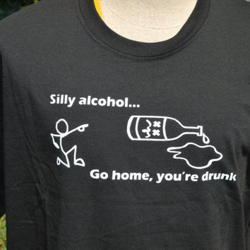 DRUNK , Liquor Bottle, Offensive , Controversial , Booze, Screen Print , Humor Shirts