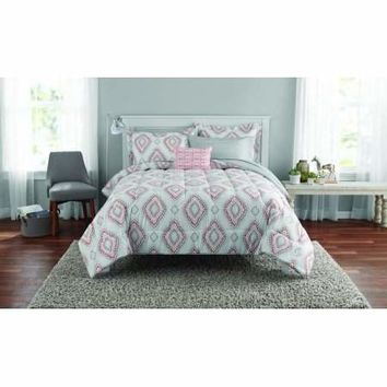 Mainstays Double Diamond Bed in a Bag Coordinating Bedding Set - Walmart.com