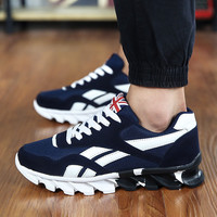 2017 Men's Fashion Air Cushion Casual Shoes Men Lace-up Red Blue Spring Autumn Walking Jogging Shoes Mens Trainers