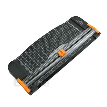 For Jielisi 909-5 A4 Guillotine Ruler Paper Cutter Trimmer Cutter Black-Orange