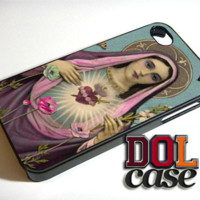 Virgin Mary Blessed Heart Cell iPhone Case Cover|iPhone 4s|iPhone 5s|iPhone 5c|iPhone 6|iPhone 6 Plus|Free Shipping| Delta 457