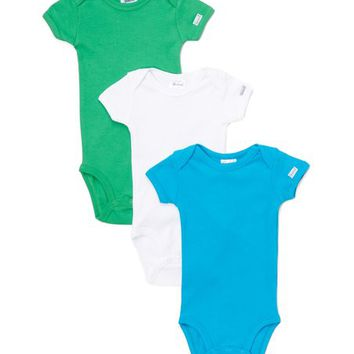 Spencer's Kelly Green, White & Turquoise Bodysuit Set