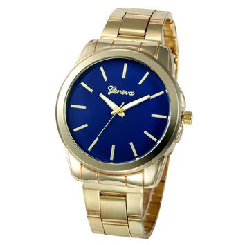 Geneva Women Full Stainless Steel Analog Quartz Wrist Watch For Women