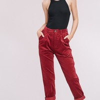 Cute As A Button Corduroy Trousers in Plum