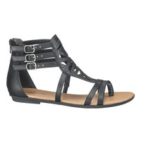 Desi Cut Out Gladiator Sandal - Black