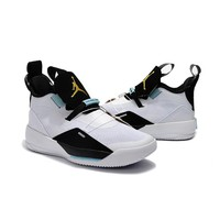 "Air Jordan 33 ""Black White Gold"" - Best Deal Online"