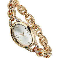 Crystal and gold elegant watch - New In Accessories   - What's New