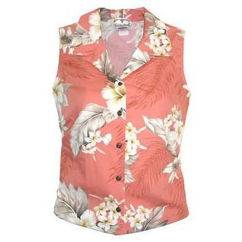 petal hawaiian sleeveless blouse