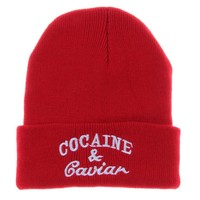 Cocaine and Caviar Knit Beanie Hat