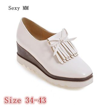 Platform Wedges Shoes Women Flats Slip On Woman Leisure Shoes Female Oxfords Casual Sh
