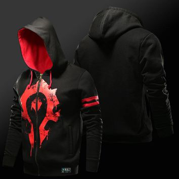 World of Warcraft Horde Symbol Zip Up Hoodie