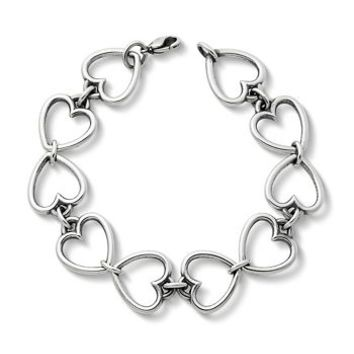 Open Heart Link Bracelet | James Avery