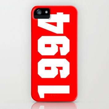 1994 justin bieber's date of birth (red) iPhone & iPod Case by The Bieber Shop!