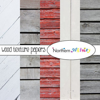 Wooden Board Textures Digital Paper Pack – rustic photographic wood board backgrounds for cards, scrapbooking etc – instant download – CU OK
