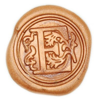 Floral Deco Initial Wax Seal Stamp