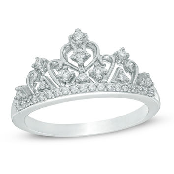 1/5 CT. T.W. Diamond Tiara Ring in Sterling Silver|Zales
