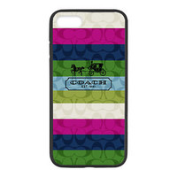 Best Coach Rainbow Limited Edition Case For iPhone 7 7+ 8 8+ Hard Plastic Cover