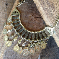 Currency Statement Necklace