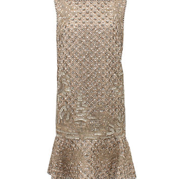 Oscar De La Renta Beaded Sheath Dress - Mini Dress - ShopBAZAAR