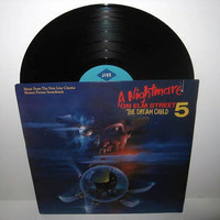 Rare Vinyl Record A Nightmare On Elm Street 5  by JustCoolRecords