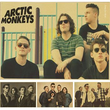 Free shipping,Arctic Monkeys/ Rock band star/classic nostalgic/Cafe/bar poster/ Retro Poster/decorative painting