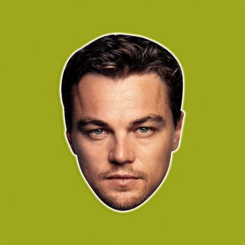 Angry Leonardo DiCaprio Mask - Perfect for Halloween, Costume Party Mask, Masquerades, Parties, Festivals, Concerts - Jumbo Size Waterproof Laminated Mask