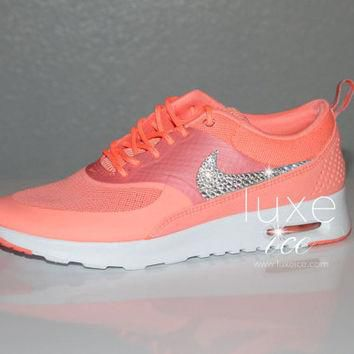 Nike Air Max Thea Premium w/Swarovski Crystals detail - Atomic Pink/White LIMITED