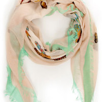 Butterfly-ing High Blush Pink Print Scarf