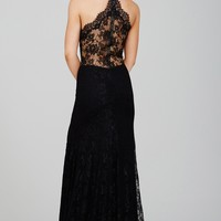 Black Halter Lace Dress 29022 - Prom 2016