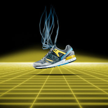 Saucony Originals Grid SD - Grey/Yellow