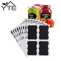 2016 40pcs Waterproof Mason Jar Bottle Stickers Labels Home Kitchen Jars Stickers Chalkboard Lables Tags Can Be Reused