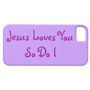 """Jesus Loves You""  Christian iPhone 5 Cases"
