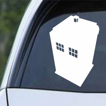 Doctor Who - Tardis Silhouette Die Cut Vinyl Decal Sticker