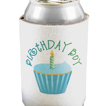 Birthday Boy - Candle Cupcake Can / Bottle Insulator Coolers by TooLoud