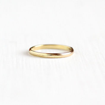 Vintage 10k Yellow Gold Filled Band Ring - 1940s Size 1 Vargas Simple Dainty Child's Children's Jewelry