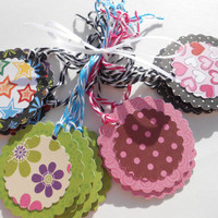 Multi Use - ADHESIVE - Variety 16 Pack - Gift Tags, Labels, Party Favors, Baby Shower Favors, Scrapbook Sticker, Wedding Favors, ETC.