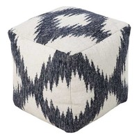 Beach Ave. Pouf IVORY/NAVY