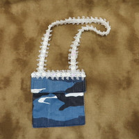 Blue Camo Purse - Camouflage Accessories - Small Purse - Blue Purse - Little Girls Gifts - Childs Purse