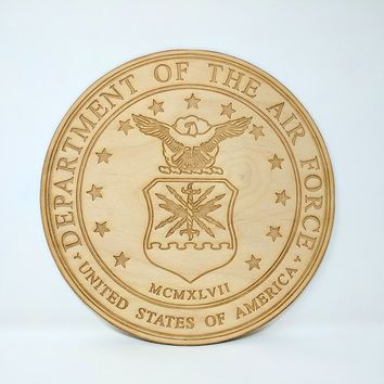 United States Air Force Emblem - Laser Cut and Engraved Sign