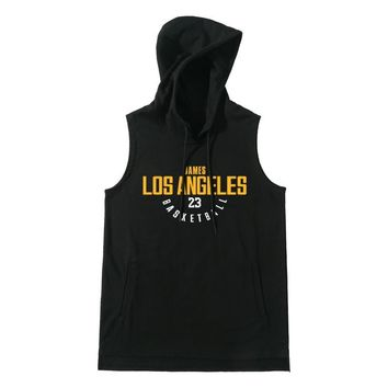 Men Basketball Jersey Breathable Sports Hoodies Women Team Basketball Sleeveless LeBron & Bryant Training Shirt