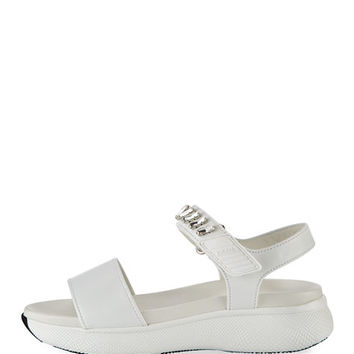 Prada Leather Grip-Strap Sandal