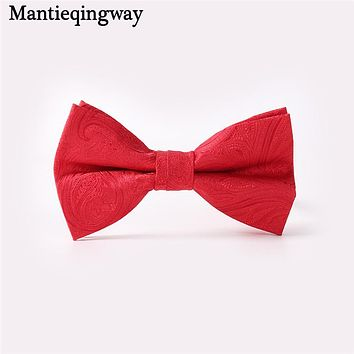 Male Formal Wear Business Skinny Bow Tie Slim Cravat For Wedding Party Fashion Polyester Paisley Bow Ties For Men