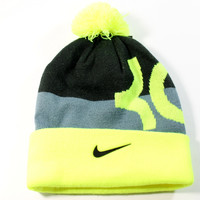 Nike Youth's KD Kevin Durant Signature Black/Neon Beanie Hat